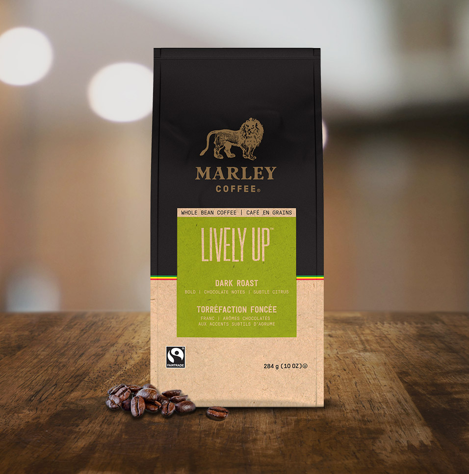 Marley Coffee: Lively Up Coffee Blend Tabletop
